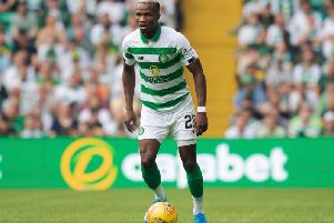 Boli Bolingoli in action for Celtic.