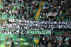 Celtic fans unfurl their tifo.