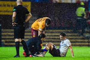 Jamie Walker was injured against Motherwell. Picture: SNS