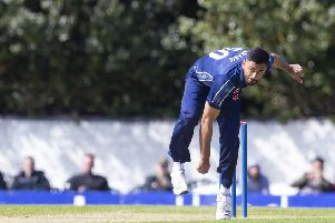 Safyaan Sharif took three wickets during Scotland's victory over Oman. Picture: SNS.