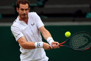 Andy Murray beat Harry Styles, Aiden Turner and Jamie Dornan Mike Egerton/PA Wire.
