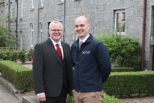 Left to right: Steven Strachan from Even Property and Ross Watt from Newton Property Management. Picture: Contributed