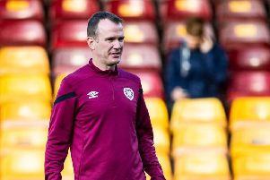 Glenn Whelan could make his competitive Hearts debut against Celtic on Sunday