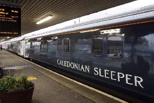 One of the new �150 million fleet of Caledonian Sleeper trains. Picture: Iain McLean