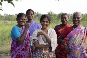 Some of the women from India's excluded communities who are being trained in organic farming to give them autonomy and help them to break free from a life of extreme poverty
