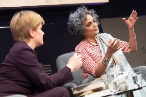 By the time Nicola Sturgeon interviewed author Arundhati Roy she had already been interviewed by journalist Graham Spiers, political comedian Matt Forde and radio host Iain Dale during the Festival. Picture: Roberto Ricciuti Photography