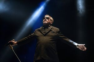 Suggs was in reminiscent mood at the Madness concert in Princes Street Gardens, Edinburgh. Picture:  Neil Hanna