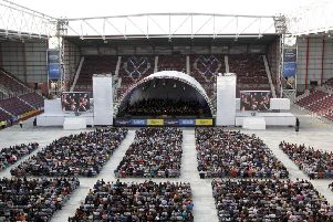 The free concert at Tynecastle got the Festival off to a spectacular start. Picture: Alistair Linford