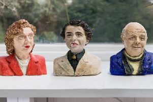 Nicole Farhi's busts. Picture: Contributed