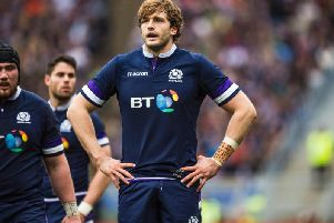 Richie Gray in action during the 2018 Six Nations