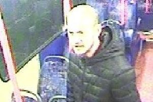 Police want to trace this man in relation to an assault aboard a Lothian Bus.