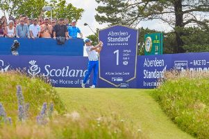 Rickie Fowler tees off at the first during this year's ASI Scottish Open at the Renaissance. Pucture: Paul Severn