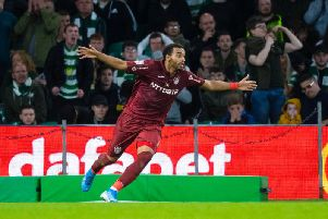 Billel Omrani scored twice against Celtic for Cluj to knock the Parkhead side out of the Champions League qualifiers. Picture: SNS