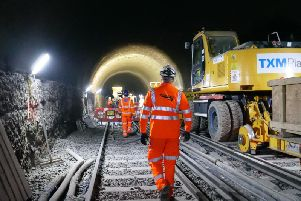 Network Rail will work inside the tunnel. Pic: Network Rail