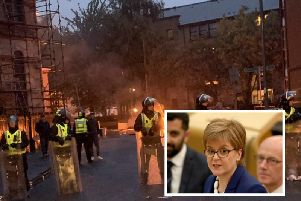 Nicola Sturgeon has slammed the sectarian violence that erupted in Govan on Friday night. Picture: PA
