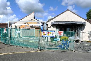 Strathcarron Hospice, where this month has seen work getting underway for a new entrance.