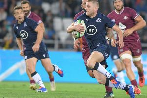 Finn Russell was in good form for Scotland. Pic: AFP