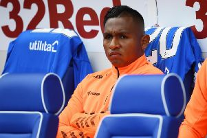 Alfredo Morelos will be staying at Ibrox. Picture: SNS