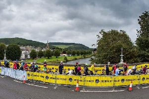 Race organisers confirmed the cyclist had died in the collision on Sunday morning.