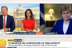 "Nicola Sturgeon on Good Morning Britain, was told by Piers Morgan ""you lost""."