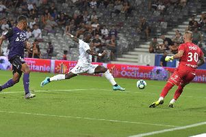 Moussa Konate in action for Amiens against Toulouse