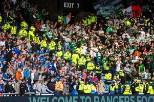 Rangers and Celtic fans during Sunday's Old Firm clash.