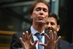 Sir Cliff Richard spoke to the media last year when he was awarded more than 200,000 in damages after winning his High Court case. Now he has agreed a final legal fees settlement. Picture: Victoria Jones/PA Wire