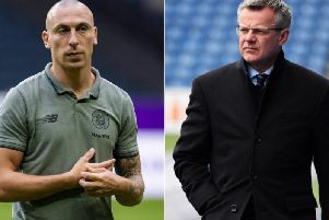 Celtic captain Scott Brown (left) and Rangers managing director Stewart Robertson