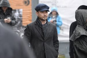 Martin Composton was spotted filming The Nest in Glasgow. (Picture: contributed)