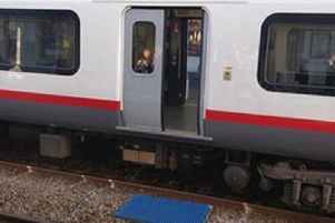 The Rail Accidents Investigation Branch (RAIB) released a photo of the door which remained open while the train travelled at around 80mph. Picture: Tim Neobald/RAIB/PA Wire