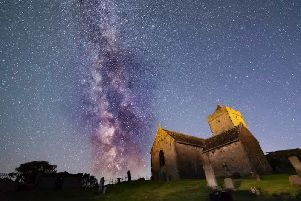 Art, culture, stargazing, food and the wild landscapes of Lewis are being used to draw visitors to the island all year round as part of its #wildinwinter campaign. Pictured is Rodel Church by Mark Stokes, an image used to promote the 2019 Hebridean Dark Skies Festival.