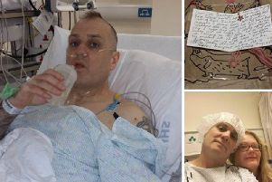 Ray Duffy decided to go under the knife after receiving a letter in his eBay package from the wife of a man waiting for a transplant.