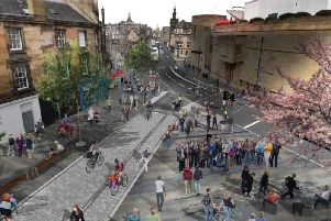 George IV Bridge outside Bedlam theatre: cyclists and pedestrians get priority