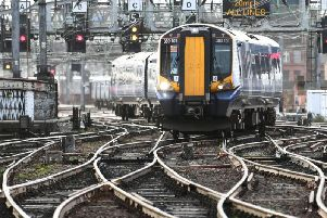 File picture of ScotRail train at Glasgow Central