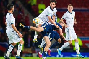 Empty seats at Hampden were clearly visible as Scotland took on Russia in an important Euro 2020 qualifier