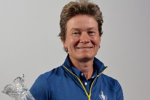 Catriona Matthew will lead Europe into battle at the Solheim Cup in Gleneagles this week. Picture: Mark Runnacles/Getty Images