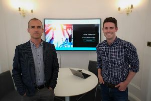 ClearSky Logic co-founders Phil Telfer (left) and Darren Auld. Picture: Contributed