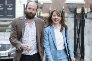 Prime Minister Theresa May's former chief of staff Nick Timothy and Joint-chief of staff Fiona Hill.