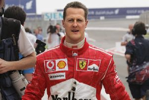 Schumacher suffered a near-fatal brain injury in a 2013 skiing accident in the French Alps.