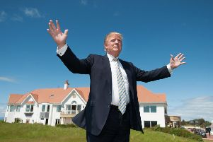 Donald Trump's Turnberry hotel and its links with US military staff and Prestwick Airport are under investigation by Congress.