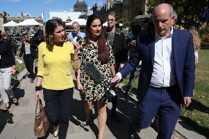 Former Labour MP Luciana Berger ' seen with Jo Swinson, in yellow ' is one of a number of MPs who have joined the Lib Dems because of Brexit (Picture: Jonathan Brady/PA)
