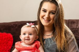 Kiera Meldrum, 20, was offered an abortion every week following her 21-week scan which showed her unborn child had Grade 3 severe ascites to the bowel.