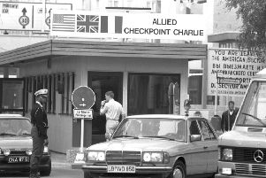 An Allied MP on duty at Checkpoint Charlie. Could we see similar scenes on the streets of Edinburgh?