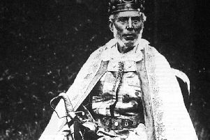 King Charles II, the last of the Yetholm gypsies to be crowned, at his coronation in 1898. PIC: gypsypalace.co.uk.