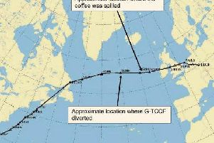 A flight from Germany to Mexico was diverted to Ireland after a coffee spillage caused failures in the audio control panel systems. Picture: Air Accidents Investigation Branch
