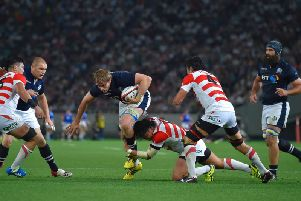 Scotland take on Japan in a 2016 friendly match in Tokyo
