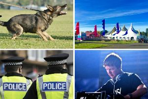 Police and sniffer dogs will be searching all music fans attending the EH1 Festival. JPI Media/ Marcel Jancovic-Shutterstock.