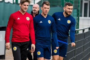Ryan Jack at a Scotland training session at the Oriam. Steven Gerrard has criticised the national team coaching staff for being 'careless' with the Rangers midfielder