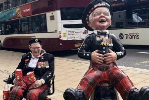 Son of legendary Edinburgh fundraiser Tom Gilzean launches crowdfunding campaign to buy Oor Wullie sculpture