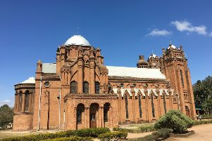 St Michael's and All Angels Church in Blantyre, Malawi, completed in 1891, was designed by Rev David C Scott from Edinburgh and built, by hand, by Malawi craftsmen